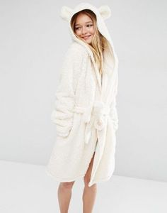 Buy ASOS Fluffy Cloud Robe with Ears at ASOS. With free delivery and return options (Ts&Cs apply), online shopping has never been so easy. Get the latest trends with ASOS now. Lingerie Sleepwear, Nightwear, Pyjamas, Ashley Clothes, New Outfits, Fashion Outfits, Summer Fashion Trends, Loungewear, Clothes For Women