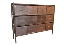 Crafters and Weavers West Town Industrial Style 12 Drawer File Cabinet/Storage Console Cabinet Industrial Office Space, Industrial Bedroom Furniture, Metal Furniture, Industrial Chic, Furniture Ideas, Used Cabinets, Storage Cabinets, Sideboard Cabinet, Filing Cabinet