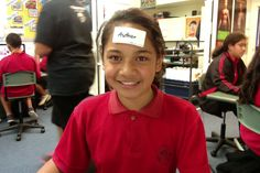 Sticker on forehead with a word, question, command, etc. Students interact and they have to discover what they have on their sticker.