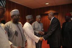 nodullnaija: Photos of Saraki with other Senators