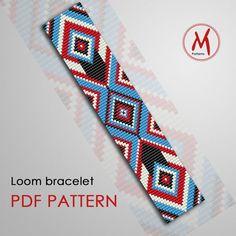 Loom Bracelet Patterns, Bead Loom Bracelets, Bead Loom Patterns, Weaving Patterns, Jewelry Patterns, Color Patterns, Jewelry Ideas, Art Patterns, Mosaic Patterns