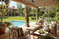 The terrace at James Belushi's Los Angeles home.  Photo: Scott Frances