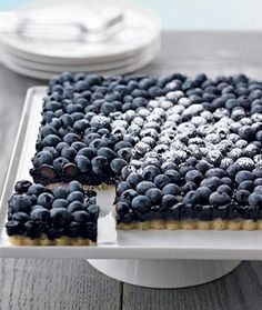 Blueberry Tart | Cookbook Recipes  - GREAT IDEA to put fresh berries on top of the cooked product!