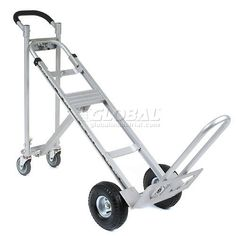Aluminum Convertible Hand Trucks combine a Platform Truck and Incline Truck with a Standard Two-Wheel Hand Truck. Cool Kitchen Gadgets, Cool Kitchens, Flat Bed Trolley, Curb Ramp, Moving Blankets, Moving Supplies, Diy Garage Storage, Truck Bed, New Toys