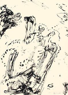 Der Maler Max Weiler 1910-2001 | Kunst - Zeichnungen und Arbeiten auf Papier - Autonomie der Mittel, 1960-1968 Art, Paper, Middle, Drawing S, Kunst, Art Background, Performing Arts, Art Education Resources, Artworks