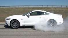 Ford demonstrates Mustang's new Line Lock burnout feature