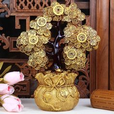 Crafts copper Bronze art Opening gifts decoration crafts home decoration coins lucky tree Large 1034 Tree Crafts, Decor Crafts, Feng Shui Tree, Yin Yang, Creative Money Gifts, Hindu Statues, Shiva Linga, Money Pictures, Gold