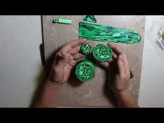 Polymer Clay Faux Malachite Cane Tutorial - YouTube