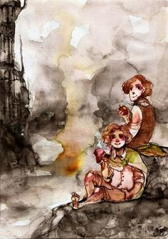 two hobbits.... by faQy.deviantart.com on @deviantART