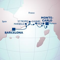 7 Night Arts On The Cote D'azur Voyage - Itinerary Map