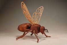 Bee Teapot Wood Sculpture by Tom Raushke - WoodWorks101.com
