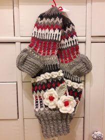 ISOLASSA: Anelmaiset sukat Knitting Socks, Gloves, Winter Hats, Crochet, Diy, Fashion, Mittens, Tights, Knit Socks