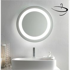 Bathroom Origins Mirrors - Bathroom Origins Halo Mirror 90