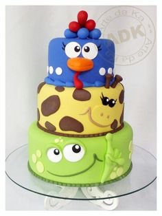 .Super cute animal cake