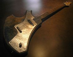 Lagoon, a slide guitar with a relic finish