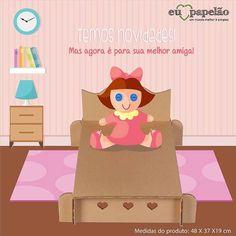 TEMOS NOVIDADES ! Agora chegou a caminha de boneca ! Perfeita para pintar e customizar para sua boneca dormir feito uma princesa ! Fácil de montar e desmontar. Vocês vão se apaixonar ! Adquira a sua na nossa loja virtual: loja.euamopapelao.com.br  #ummundomelhorésimples #brincaréomelhorbrinquedo #felicidade #crianca #euamopapelao #novidades #lancamento #camadeboneca #sustentabilidade #amorpeloquefaz by euamopapelao http://ift.tt/1ssXJzN