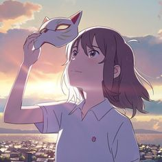 Recently I watched Netflix anime movie A Whisker Away. Such an endearing and sweet history, it caughts your eye just with the drawing style and who doesn't love cats. Cat's Eye Anime, Manga Anime, Wallpaper Animes, Animes Wallpapers, Kawaii Anime, Netflix Anime, Cat Icon, Ghibli Movies, Anime Scenery