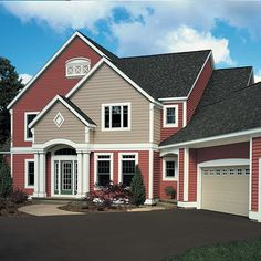 exterior paint color, with white trim. Paint roof slate grey ...