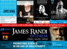 El bueno de James Randi de gira europea. Que bien.