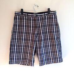 Vans Classic Men's Shorts Size 34 Plaid Checks Black Brown Gray White  | eBay