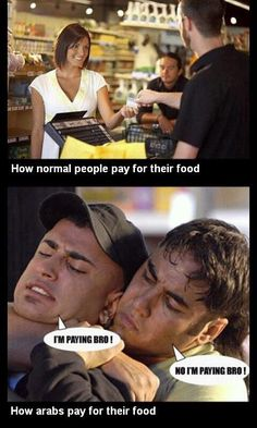 15181517% true Hahahah not with a knife but they argue and fight over the bill!