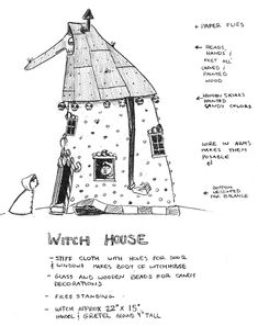 hexenhaus aus karton hexenparty pinterest hexenhaus haus und lebkuchen. Black Bedroom Furniture Sets. Home Design Ideas