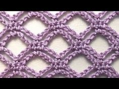 Sadece zincir ile yapılan super model #crochet #easy #pattern #stitch #tutorial - YouTube Crochet Stitches Patterns, Crochet Chart, Crochet Motif, Stitch Patterns, Knitting Patterns, Knit Crochet, Loom Knitting, Knitting Stitches, Learn How To Knit