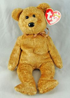 7db43080200 Ty Beanie Baby Cashew the Bear 9
