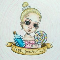Tag you're it, melanie Martinez Cry Baby, Melanie Martinez Drawings, Crybaby Melanie Martinez, Fall Out Boy, My Chemical Romance, Easy Drawings, Crying, Sketches, Princess Zelda