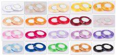 Wstążka satynowa w kropki 6 mm rolka 22m / dotted ribbon