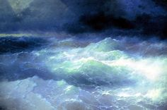 Ivan Aivazovsky - Between the Waves, 1898, oil on canvas, 66 x 97 cm