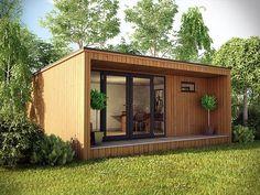 Backyard Office, Backyard Studio, Garden Studio, Garden Office, Outdoor Office, Backyard House, Garden Art, Shed Plans, House Plans