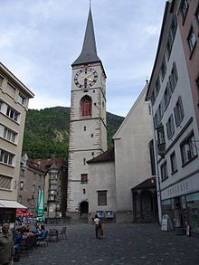 Chur, Switzerland - very charming, historic town, kind of in central Switzerland.  It's one of the oldest towns in the country, and full of rich history - the old architecture is amazing!