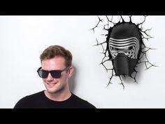 Star Wars Kylo Ren fali lámpa 3D Light FX
