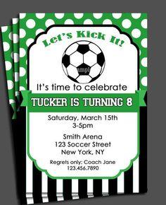 Free Soccer Themed Birthday Party Invitations