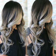 Amazing Hight Contrast Shadow Blonde created by KingHair extensions. Visit www.kinghair.com to match your hair color! #hairextensions #hairstyles