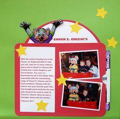 chuck e. cheese scrapbook layout - Google Search