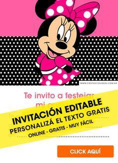 25 Invitaciones De Minnie Gratis Editables Para