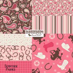 Roundup Bundle Western Fabric Half Yard Riley by SunnysideFabrics, $42.00