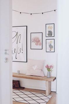 Meine ultimativen Tipps für die Flurgestaltung. Flur schön, hell und einladend gestalten. Viele Ideen für den Flur und Eingangsbereich. Dekoration im Flur. Bildergalerie und Wandgestaltung im Flur. Flur im skandinavischen Stil einrichten.