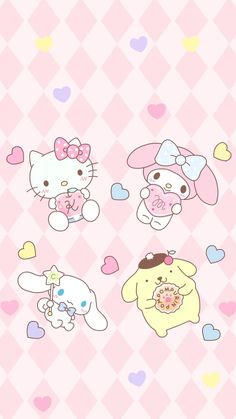 Cute wallpapers for mobile: Sanrio Characters – Sweet Magic Sanrio Wallpaper, Hello Kitty Iphone Wallpaper, My Melody Wallpaper, Hello Kitty Backgrounds, Kawaii Wallpaper, Wallpaper Iphone Cute, Macaron Wallpaper, Boys Wallpaper, Sanrio Hello Kitty