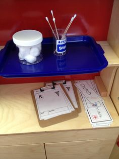 Hospital: Great dramatic play and vocabulary/literature building provocation for older children.