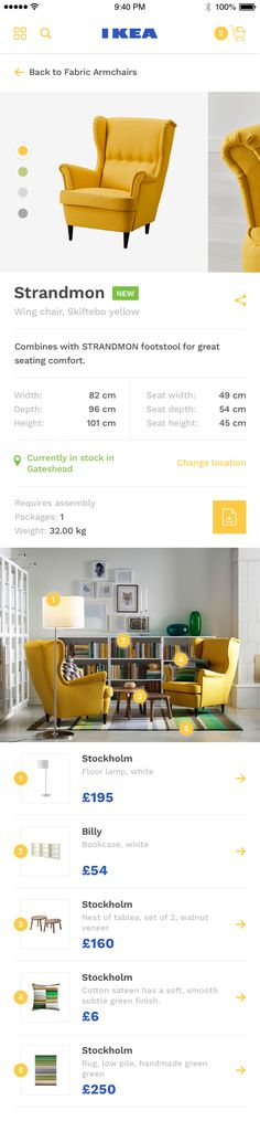 png by Ollie Barker Mobile Web Design, Web Ui Design, Flat Design, Layout Design, Ecommerce App, App Ui, Fabric Armchairs, Ui Web, Ui Inspiration