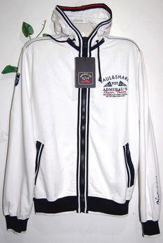 Paul  amp  Shark AUTHENTIC White Cotton Men Italian Hood Sweater Size L   445  PaulShark f5a2be3dd5