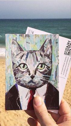 Kids Collage, Collage Artists, Torn Paper, Shape And Form, Algarve, Postcards, Portugal, Moose Art, Art Pieces