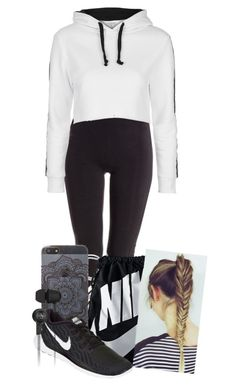 """""""Errands to run"""" by tigerlily789 ❤ liked on Polyvore featuring Y-3, Topshop, NIKE and Original Penguin"""