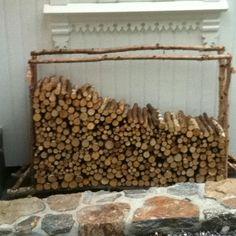 Decorative firewood, small birch logs.