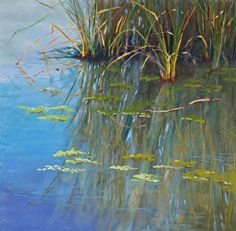 Papago Pond by Lisa Stauffer http://dailyartshow.faso.com/20130621/1200362