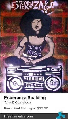 """I Am Music"" by TONY B. CONSCIOUS (The Ghetto Van-Go) 323 251-4969. Original $100-200 or go to fineartamerica.com for prints or giclees."