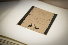 Rustic stag and forrest wedding stationery at Rosie's Weddings. Wedding Stationery, Wedding Designs, Special Day, Rustic, Weddings, Places, Country Primitive, Rustic Feel, Wedding